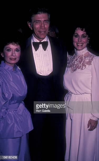Actress Ann Blyth actor Joe Campanella and wife attend on March 18 1983 at the Sheraton Center in Los Angeles California