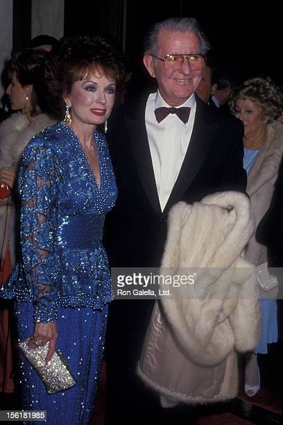Actress Ann Blyth and and husband James McNulty attend Fourth Annual American Cinema Awards on January 9 1987 at the Beverly Wilshire Hotel in...