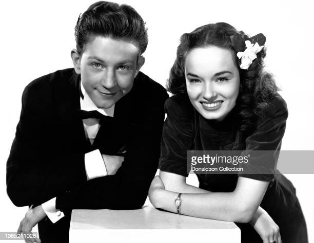 Actress Ann Blyth and Donald O'Connor in a scene from the movie 'Chip Off the Old Block'