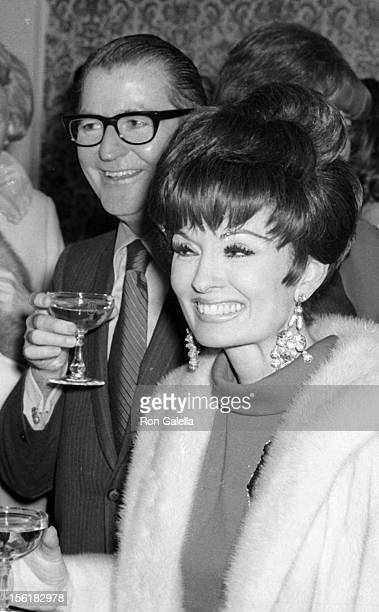 Actress Ann Blyth and husband James McNulty attend John Davidson Opening on January 18 1970 at the Las Vegas Hotel in Las Vegas Nevada