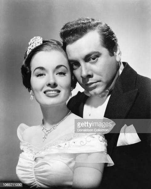 Actress Ann Blyth and Mario Lanza in a scene from the movie The Great Caruso