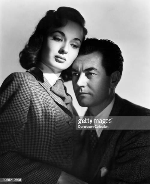 Actress Ann Blyth and Philip Friend in a scene from the movie 'Thunder on the Hill'
