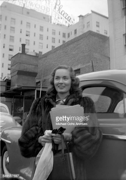 Actress Ann Blyth arrives to an event in Los Angeles California