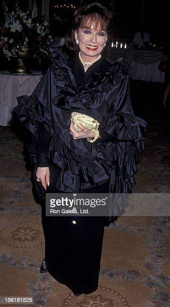 Actress Ann Blyth attends 44th Annual American Cinema Editors Awards Dinner on March 12 1994 at the Beverly Wilshire Hotel in Beverly Hills California