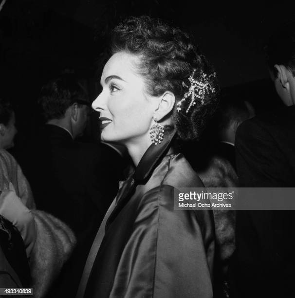 Actress Ann Blyth attends a premiere 'Bundle of Joy' in Los Angeles California