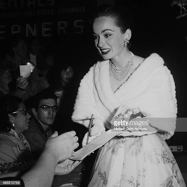Actress Ann Blyth attends a premiere in Los Angeles California