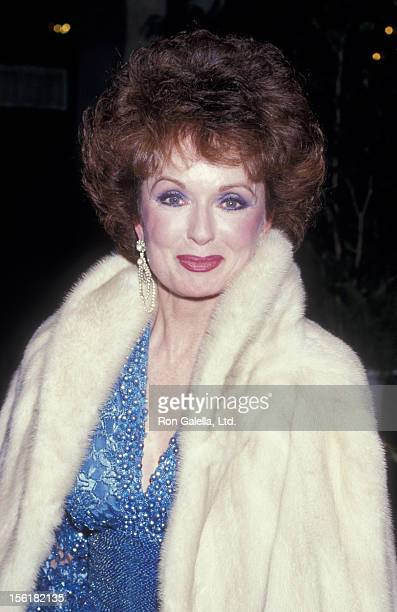 Actress Ann Blyth attends Fourth Annual American Cinema Awards on January 9 1987 at the Beverly Wilshire Hotel in Beverly Hills California