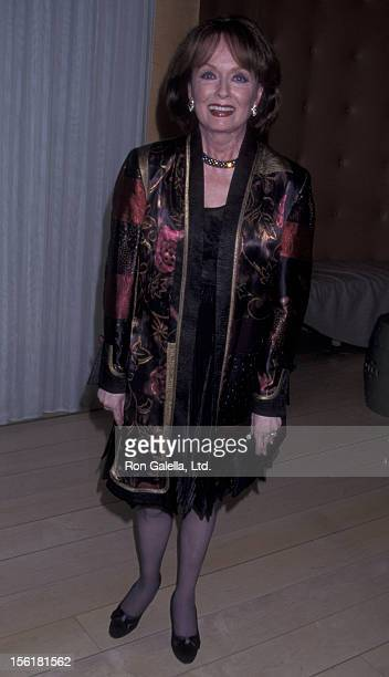 Actress Ann Blyth attends Liza MinnelliDavid Gest Engagement Party on February 21 2002 at Le Mondrian Restaurant in West Hollywood California
