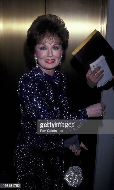 Actress Ann Blyth attends Seventh Annual American Cinema Awards on January 27 1990 at the Beverly Hilton Hotel in Beverly Hills California