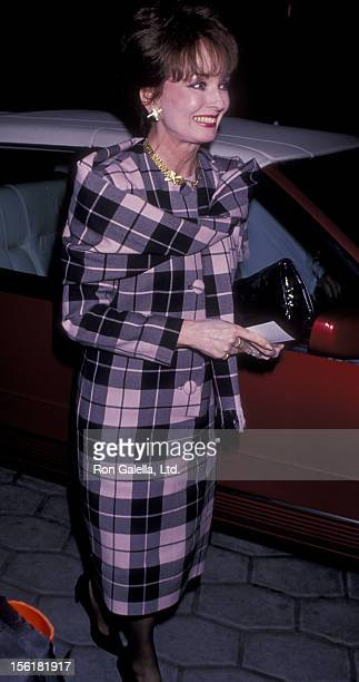 Actress Ann Blyth attends the party for 'Double ExTake Two' on October 23 1989 at the St James Club in Beverly Hills California
