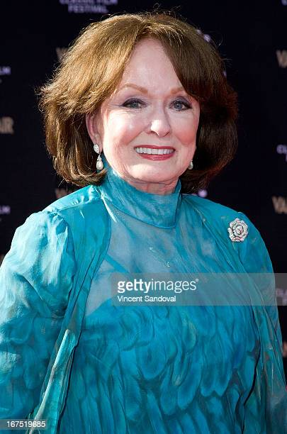 Actress Ann Blyth attends the TCM Classic Film Festival Opening night gala and world premiere of the 45th anniversary restoration of 'Funny Girl' at...