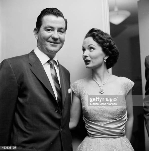 Actress Ann Blyth with husband James McNulty attend the Oscar Nominations in Los Angeles California