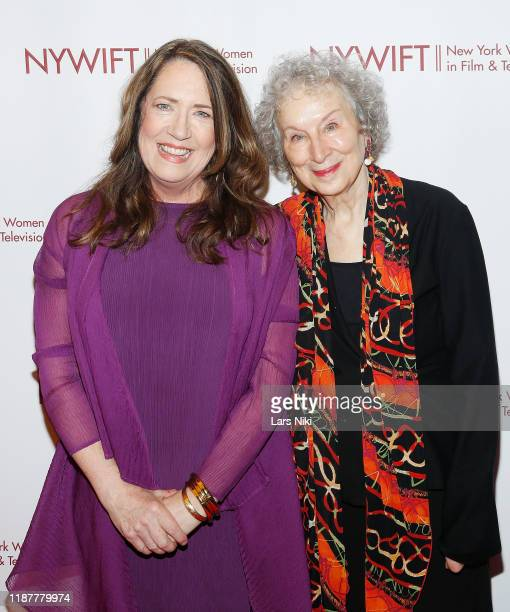 Actress Ann Dowd and writer Margaret Atwood attend the 2019 NYWIFT Muse Awards at the New York Hilton Midtown on December 10 2019 in New York City