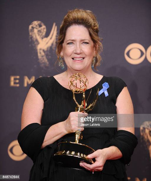 Actress Ann Dowd poses in the press room at the 69th annual Primetime Emmy Awards at Microsoft Theater on September 17 2017 in Los Angeles California