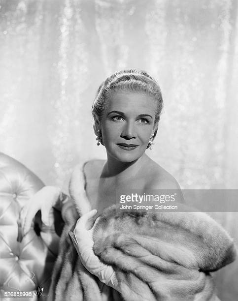 Actress Ann Harding Wearing Fur Coat