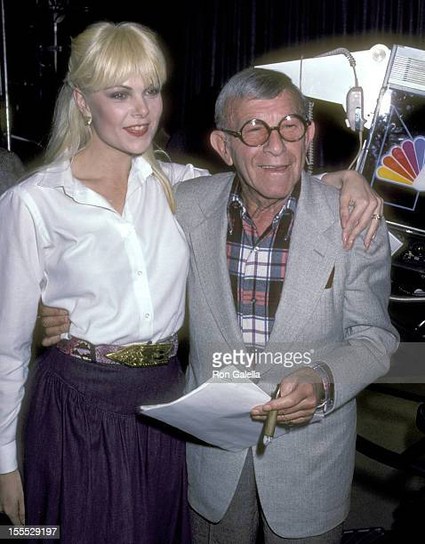 Actress Ann Jillian and Comedian George Burns attend the Taping of Bob Hope's Television Special Spoofing the Academy Awards Nominees Bob Hope Laughs...