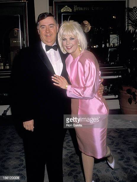 Actress Ann Jillian and husband Andy Murcia attend the 45th Annual Golden Globe Awards on January 23 1988 at Beverly Hilton Hotel in Beverly Hills...