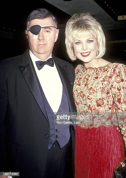 Actress Ann Jillian and husband Andy Murcia attend the 46th Annual Golden Globe Awards on January 28 1989 at Beverly Hilton Hotel in Beverly Hills...