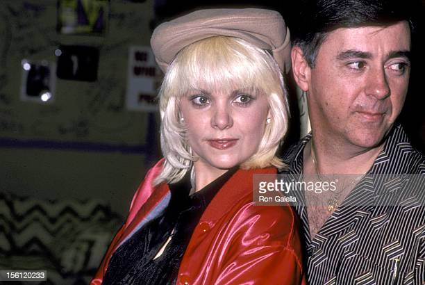 Actress Ann Jillian and husband Andy Murcia attend the 'Cerebral Palsy Telethon' on January 18 1981 at KABC TV Studios in Hollywood California