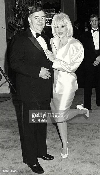 Actress Ann Jillian and husband Andy Murcia attending 45th Annual Golden Globe Awards on January 23 1988 at the Beverly Hilton Hotel in Beverly Hills...