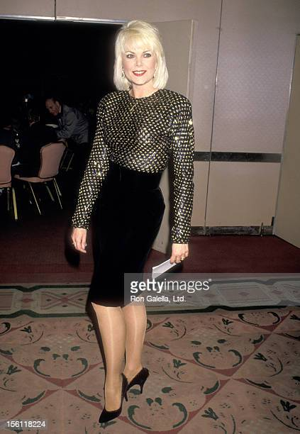 Actress Ann Jillian attends the 13th Annual Association of Tennis Professionals Awards on December 1 1987 at New York Hilton Hotel in New York City...
