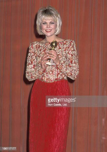 Actress Ann Jillian attends the 46th Annual Golden Globe Awards on January 28 1989 at Beverly Hilton Hotel in Beverly Hills California