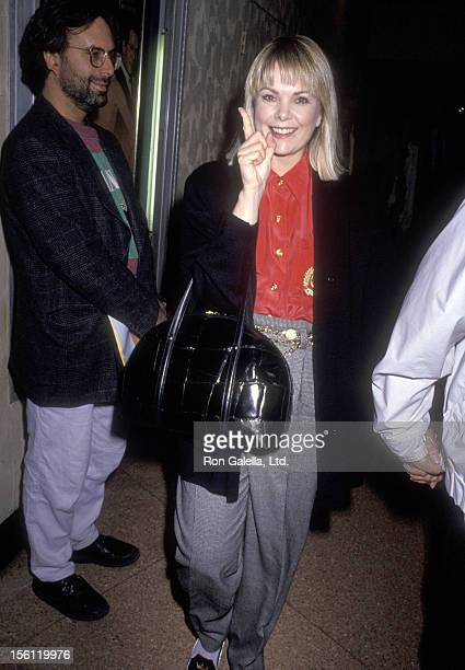 Actress Ann Jillian attends the Westwood Premiere of 'The Rookie' on December 6 1990 at Mann Bruin Theatre in Westwood California