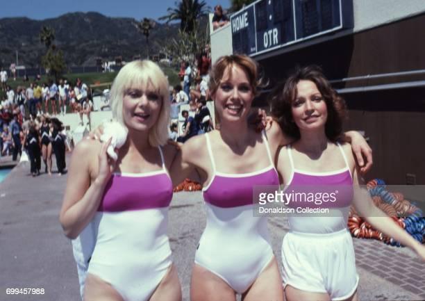 Actress Ann Jillian Jennilee Harrison and Melanie Chartoff in the Battle of the Network Stars Episode Ten which was filmed in May 1981 in Los Angeles...