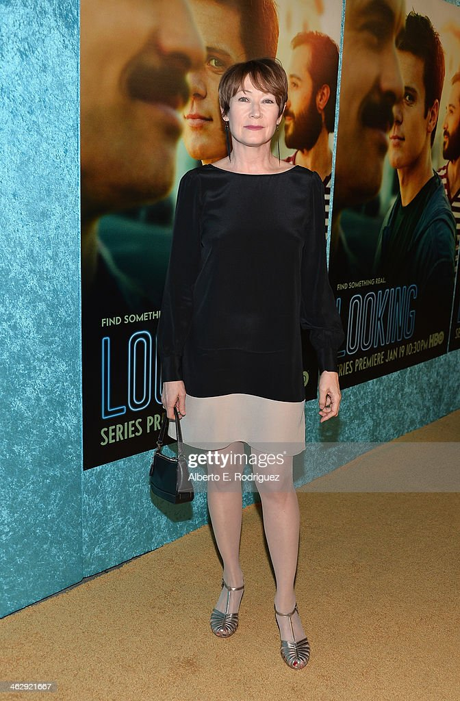 Actress Ann Magnuson arrives to the premiere of HBO's 'Looking' at Paramount Theater on the Paramount Studios lot on January 15, 2014 in Hollywood, California.