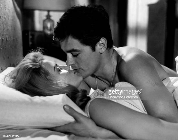 Actress Ann Margret and Alain Deloin in a scene from the movie Once A Thief which was released in 1965