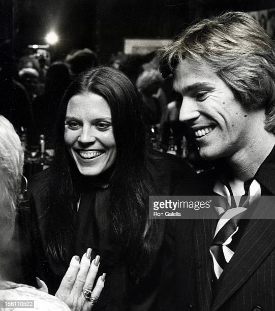 Actress Ann Reinking and date attending the premiere party for 'Movie Movie' on November 20 1978 at the Excelsior Club in New York City New York