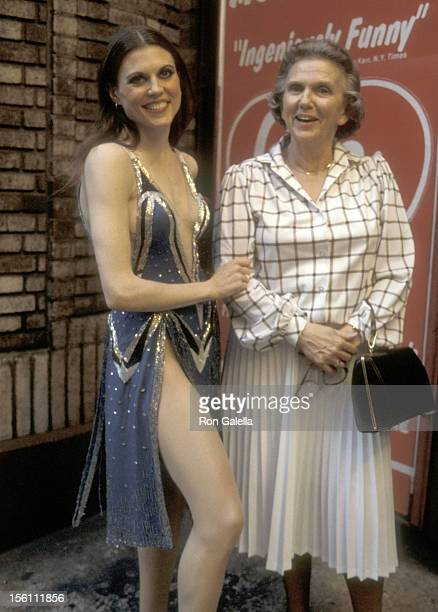 Actress Ann Reinking and mother Frances Reinking attend the 32nd Annual Tony Awards Rehearsals on June 3 1978 at Shubert Theatre in New York City New...