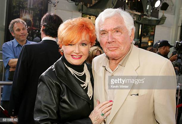 Actress Ann Robinson and actor Gene Barry arrive at the Los Angeles Fan Screening of 'War of the Worlds' at the Grauman's Chinese Theatre on June 27...