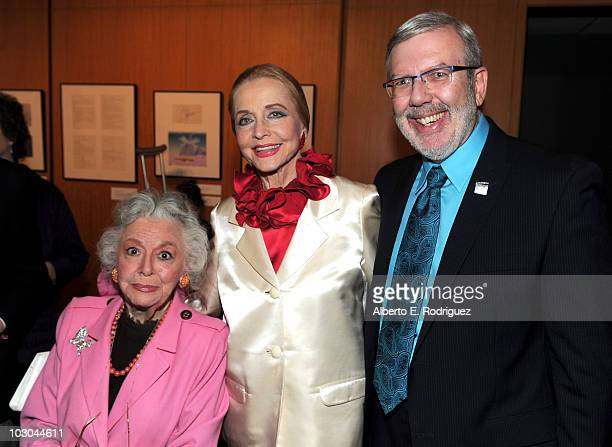 Actress Ann Rutherford actress Anne Jeffreys and film critic/historian Leonard Maltin attend the Centennial Celebration with Gloria Stuart held at...
