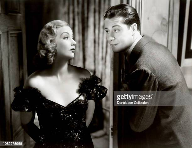 Actress Ann Sothern and Don Ameche in a scene from the movie Fifty Roads to Town