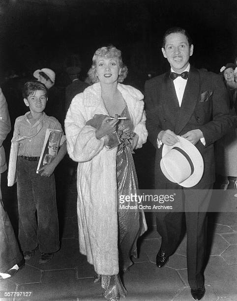 Actress Ann Sothern and her husband Roger Pryor arrive at an event in Los Angeles California