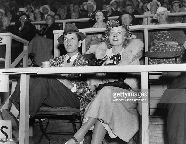 Actress Ann Sothern and her husband Roger Pryor attend an event in Los Angeles California