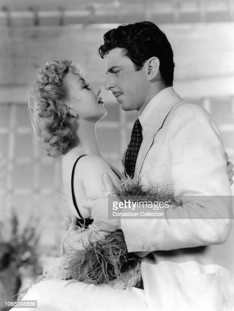 Actress Ann Sothern and John Carroll in a scene from the movie Congo Maisie