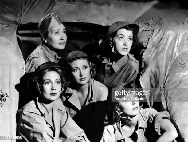 Actress Ann Sothern Fay Bainter Joan Blondell Marsha Hunt Margaret Sullavan in a scene from the movie Cry 'Havoc'