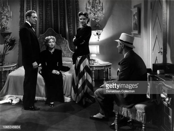 Actress Ann Sothern Paul Cavanagh Marta Linden Bernard Nedell in a scene from the movie Maisie Goes to Reno
