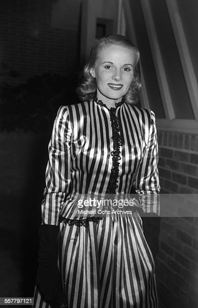 Actress Ann Todd poses as she arrives to an event in Los Angeles California