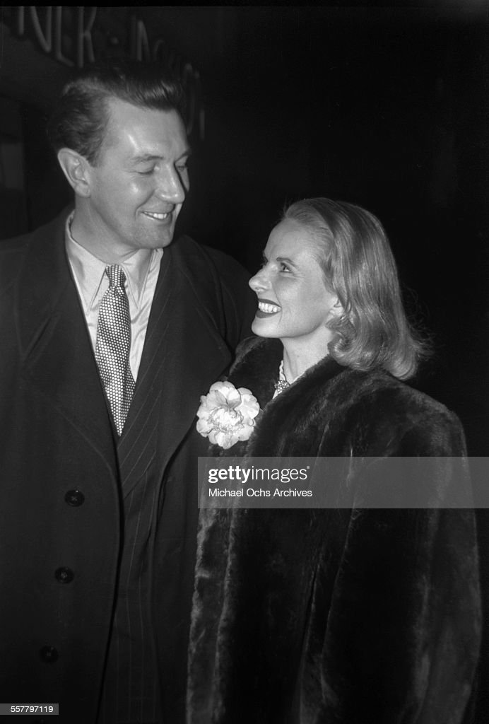 Actress Ann Todd with actor Sir Michael Redgrave arrive to an event in Los Angeles, California.