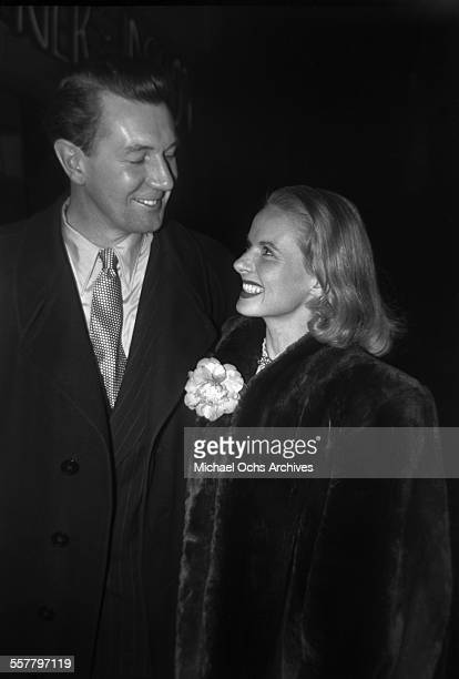 Actress Ann Todd with actor Sir Michael Redgrave arrive to an event in Los Angeles California
