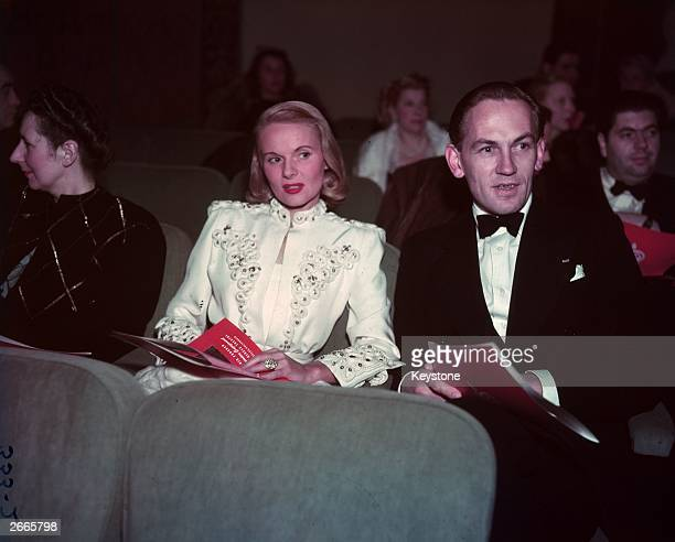 Actress Ann Todd with her husband Nigel Tangye at a film premiere in Hollywood
