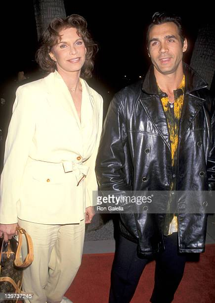 Actress Ann Turkel and Actor Adrian Paul attend 'The Saint' Beverly Hills Premiere on April 3 1997 at Samuel Goldwyn Theatre in Beverly Hills...