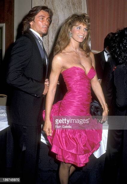 Actress Ann Turkel and boyfriend Hans Buhringer attend the WrapUp Party for the Eighth Season of The Love Boat on March 31 1985 at Beverly Hilton...