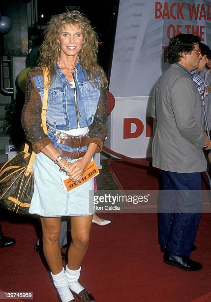 Actress Ann Turkel attends the Die Hard West Hollywood Premiere on July 12 1988 at Avco Center Cinemas in Westwood California