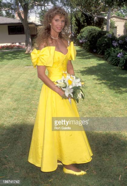 Actress Ann Turkel attends the Wedding of Marina Sirtis and Michael Lamper on June 21 1992 at Saint Sophia Greek Orthodox Cathedral in Los Angeles...