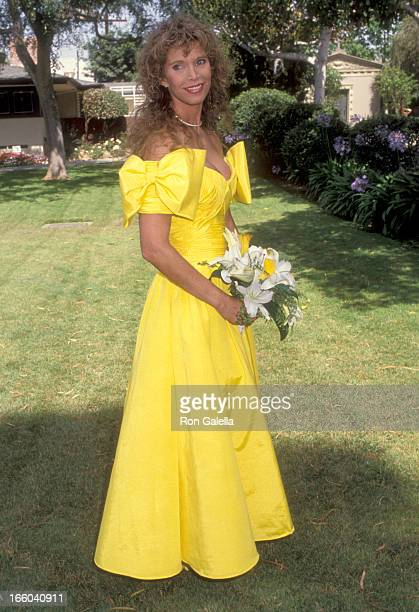 Actress Ann Turkel attends the Wedding of Marina Sirtis and Michael Lamper on June 21, 1992 at Saint Sophia Greek Orthodox Cathedral in Los Angeles,...