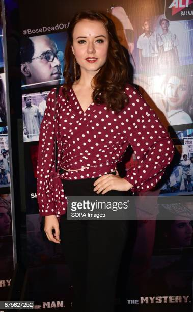 Actress Anna Ador attend the special screening of Web series Bose Dead/Alive at Sunny sound studio Juhu in Mumbai